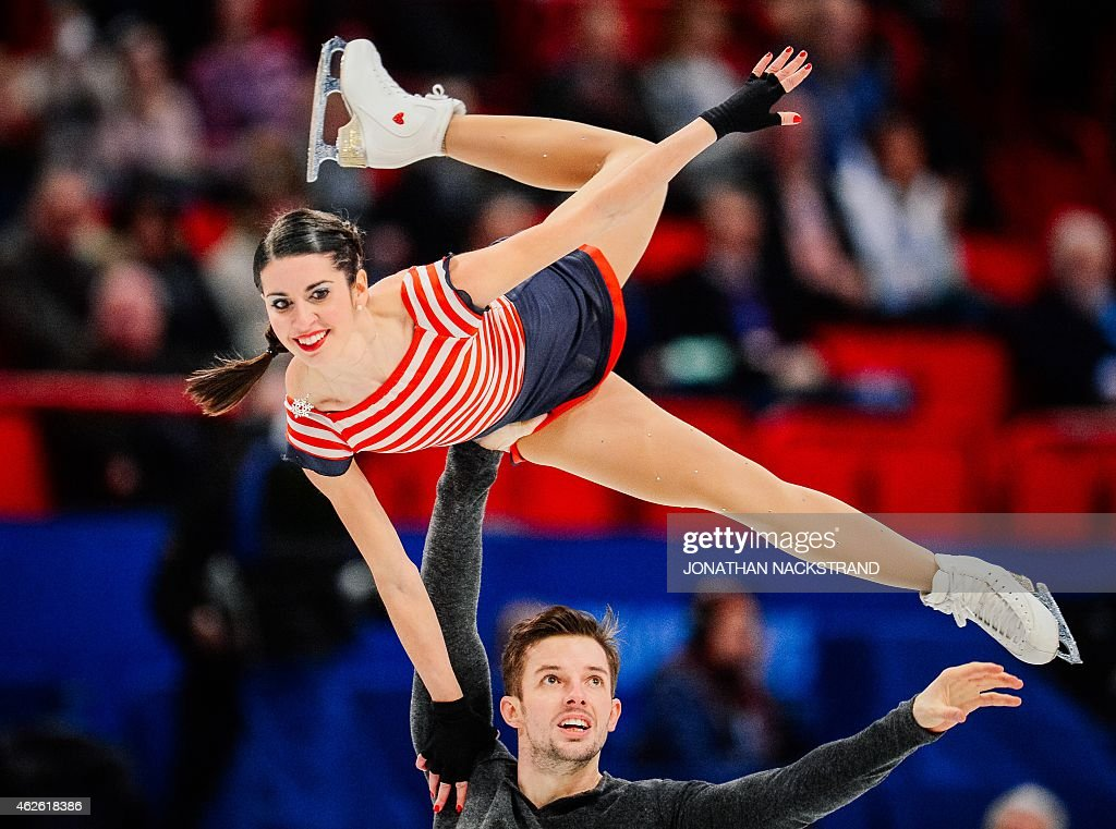 Pair <a gi-track='captionPersonalityLinkClicked' href=/galleries/search?phrase=Valentina+Marchei&family=editorial&specificpeople=734432 ng-click='$event.stopPropagation()'>Valentina Marchei</a> and Ondrej Hotarek of Italy perform their free skating program routine during the ISU European Figure Skating Championships on February 1, 2015 in Stockholm, Sweden. AFP PHOTO / JONATHAN NACKSTRAND