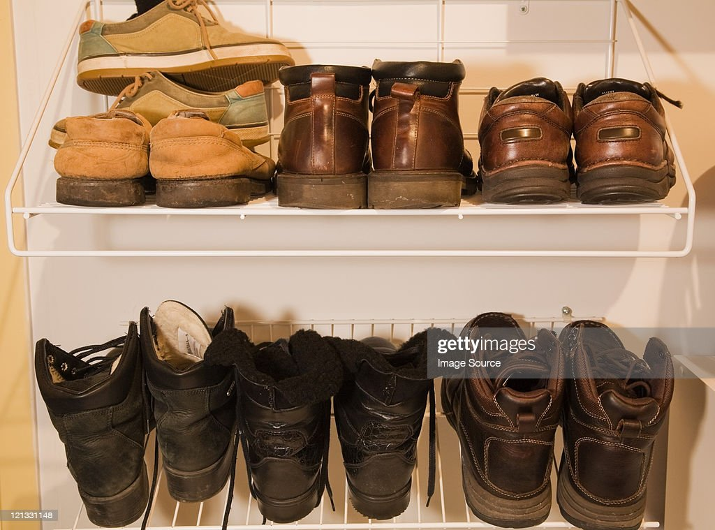 Pairs of boots and shoes