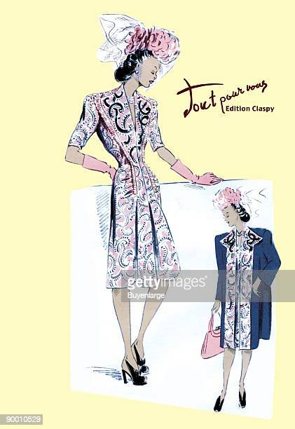 Paisley Dress with Hat Gloves and Jacket