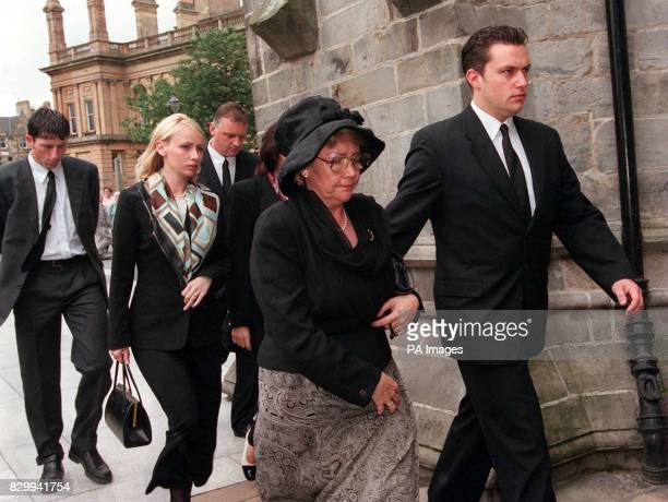 Paisley MP Irene Adams arrives with her family for a memorial service held in the city's Abbey today for Labour MP Gordon McMaster About 800 mourners...