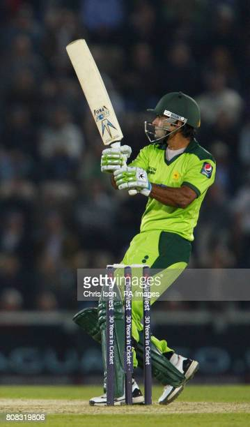 Pakistan batsman Mohammad Hafeez during the fifth one day international at The Rose Bowl Southampton