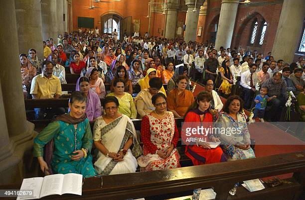 Pakistan christians listen to Archbishop of Canterbury Justin Welby at a special service during his visit to Lahore on May 28 2014 Justin Welby the...