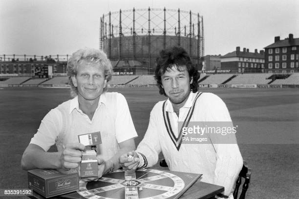 Pakistan cricket captain Imran Khan right with England's Graham Dilley at the launch of the new sporting edition of Trivial Pursuit