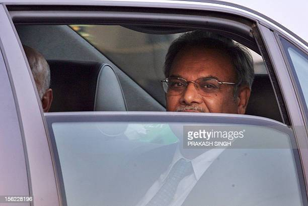 Pakistan Foreign Secretary Riaz Mohammad Khan leaves following his arrival at the international airport in New Delhi 13 November 2006 Pakistan's...
