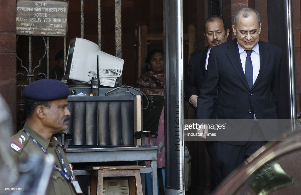 Pakistan High Commissioner to India, Salman Bashir arrives at the External Affairs Ministry on January 9, 2013 in New Delhi, India. Pakistani envoy was summoned to lodge protest at the killing of two Indian soldiers. According to Indian army, Pakistani soldiers moved 500 meters inside Indian border and killed two Indian soldiers who are patrolling the area. Pakistan has denied involvement of its troops in an attack and said it was prepared to hold investigations through the UN Military Observer Group on the recent ceasefire violations on the Line of Control (LoC).