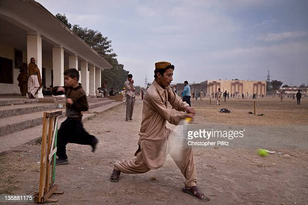 Pakistan - Lahore - Cricket in Iqbal park.