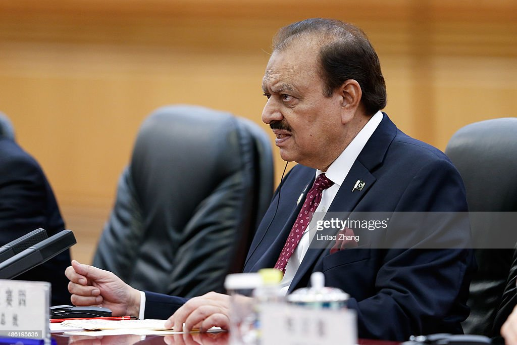 Pakistan President <a gi-track='captionPersonalityLinkClicked' href=/galleries/search?phrase=Mamnoon+Hussain&family=editorial&specificpeople=11183703 ng-click='$event.stopPropagation()'>Mamnoon Hussain</a> meets with Chinese President Xi Jinping (not pictured) at The Great Hall Of The People on September 2, 2015 in Beijing, China. Pakistan President <a gi-track='captionPersonalityLinkClicked' href=/galleries/search?phrase=Mamnoon+Hussain&family=editorial&specificpeople=11183703 ng-click='$event.stopPropagation()'>Mamnoon Hussain</a> will attend the Chinese People's Anti-Japanese War and the World Anti-Fascist War 70th anniversary victory parade on September 3.