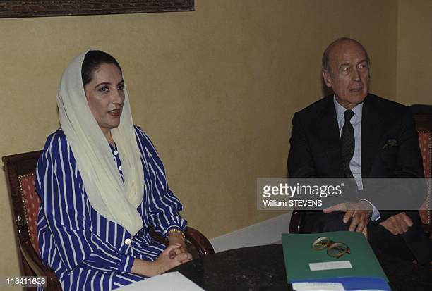 Pakistan Prime Minister Benazir Bhutto On State Visit On 1994