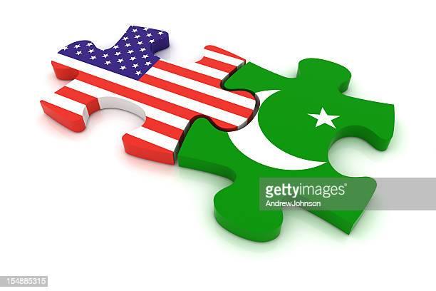 Pakistan USA Puzzle Concept