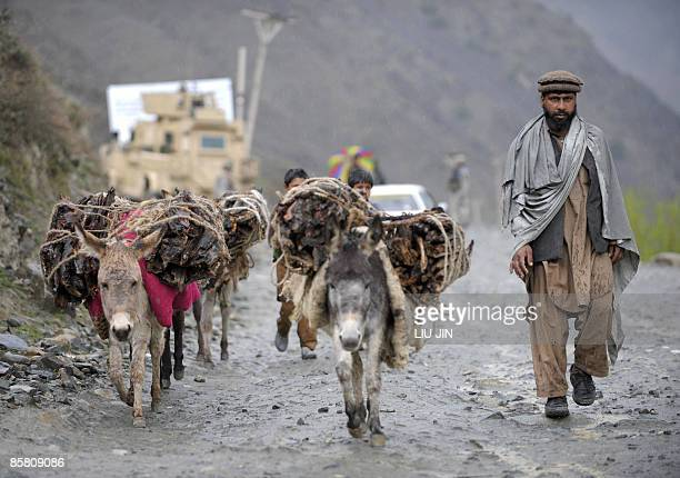 PakistanAfghanistanUSunrestmilitaryFOCUS BY CHARLOTTE MCDONALDGIBSON An Afghan farmer herds his donkeys loaded with firewood near the Dokalam border...