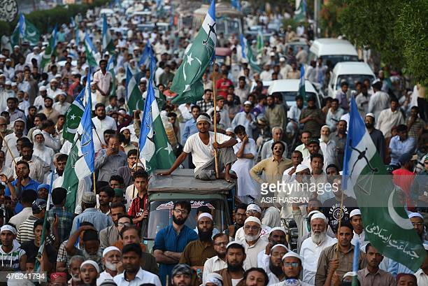 Pakistani activists protest in support of Rohingya Muslims in Karachi on June 7 2015 Myanmar refuses to recognise its 13 million Rohingya living in...