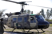 A Pakistani army helicopter carrying the coffin of slain Pakistani minister for minorities Shahbaz Bhatti arrives in his native village Khushpur on...