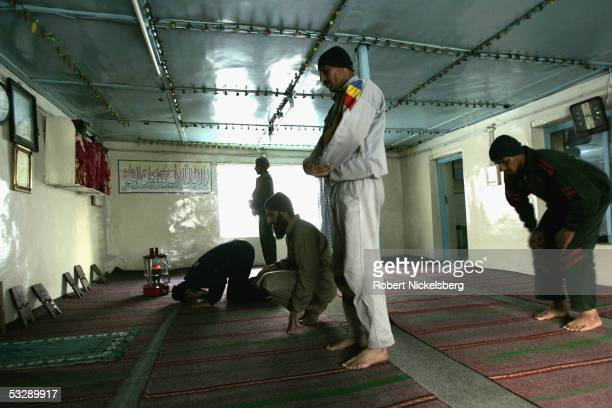 Pakistani Army soldiers perform afternoon prayers in an army mosque at 13800 feet June 17 2005 in Gyari Pakistan Since 198284 the Pakistani Army has...