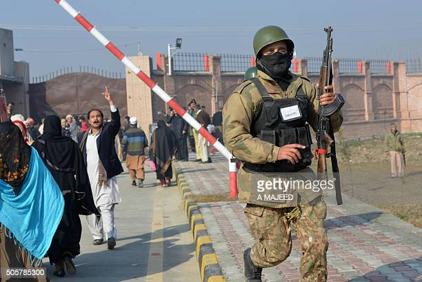 Pakistani army soldiers take part in search operation at the Bacha Khan university following an attack by militants in Charsadda about 50 kilometres...