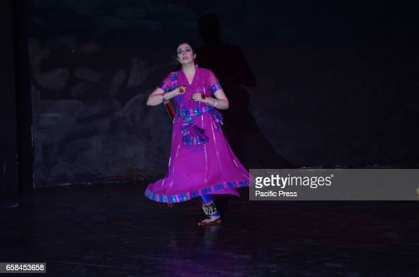 Pakistani artist performing during a stage play SUR on the occasion of World Theater Day organized by Alhamra Arts Council and Sufi Tabassum Arts...