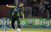 Pakistani bowler Anwar Ali delivers the ball during the first one day international cricket match between Pakistan and Zimbabwe at the Gaddafi...