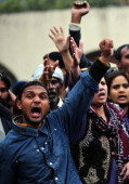 Pakistani Christian shout slogans against the killing of minorities minister Shahbaz Bhatti in Islamabad on March 2 2011 Gunmen shot dead the...