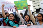 Pakistani Christians march during a rally in protest against the killing of slain minority affairs minister Shahbaz Bhatti in Lahore on March 3 2011...