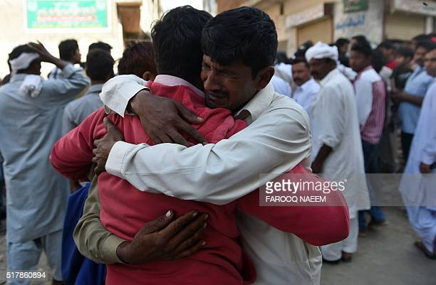 Pakistani Christians mourn the death of a relative killed in a suicide blast at a graveyard in Lahore on March 28 2016 The worst fears of Pakistan's...