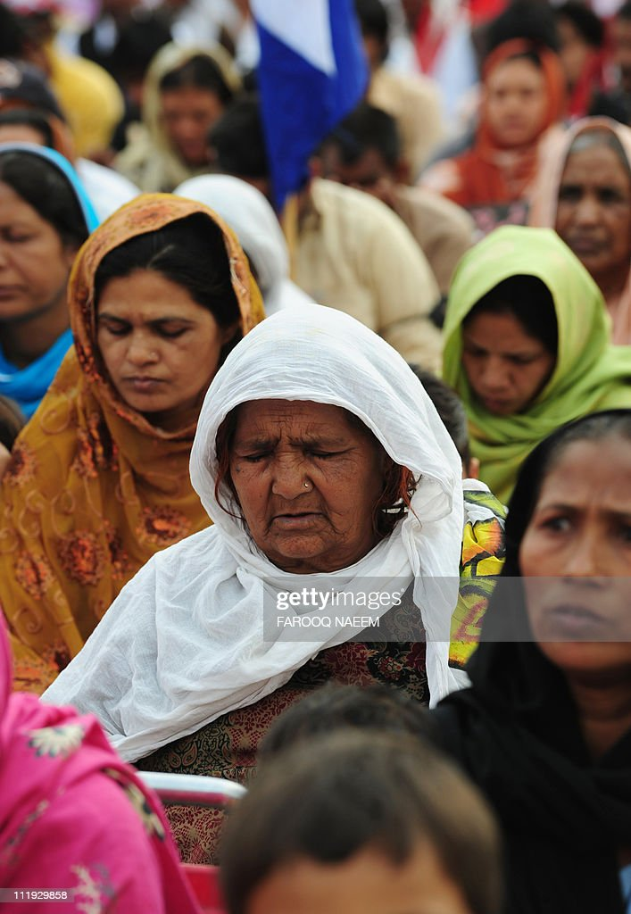 Pakistani Christians pray for slain Christian minister Shahbaz Bhatti in front of the parliament in Islamabad on April 9 2011 Bhatti the minister for...