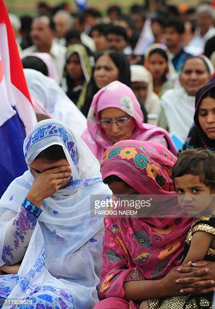 Pakistani Christians pray in memory of slain Christian minister Shahbaz Bhatti in Islamabad on April 9 2011 Bhatti the minister for minorities'...