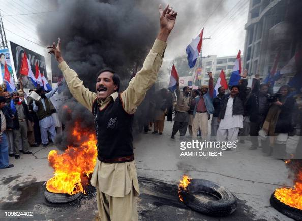 Pakistani Christians shout slogans against the killing of Christian government minister Shahbaz Bhatti in Islamabad by gunmen during a protest in...