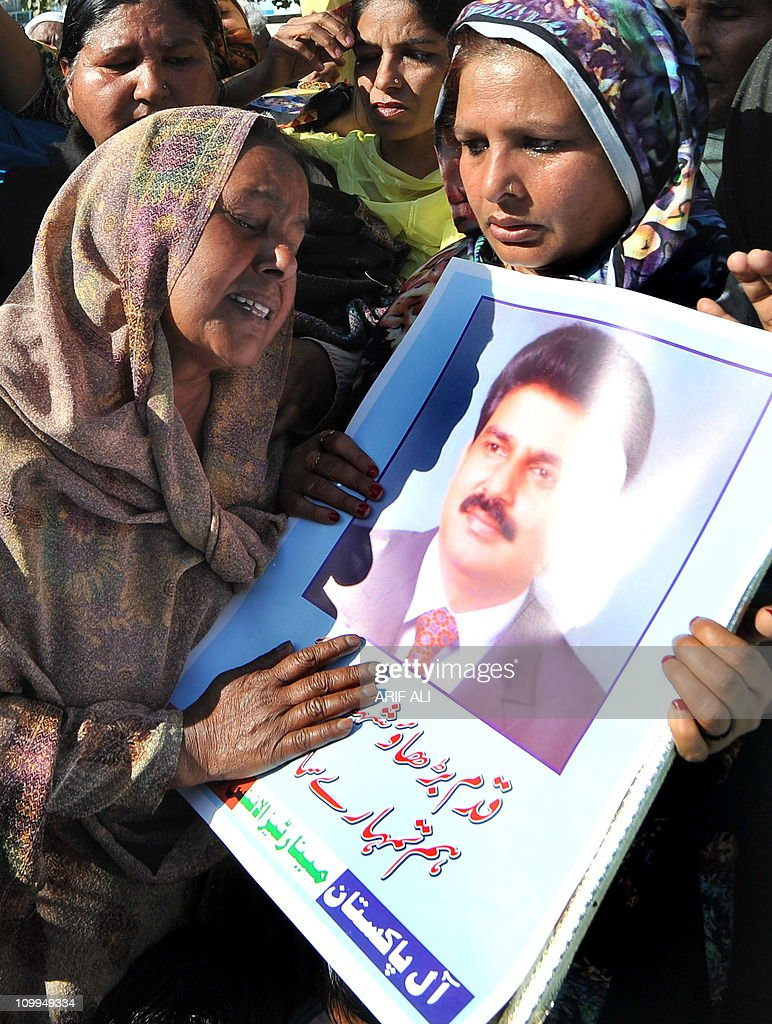 Pakistani Christians stage a protest against the killing of slain Pakistani minister for minorities Shahbaz Bhatti, in Lahore on March 11, 2011. Minority affairs minister Shahbaz Bhatti, an outspoken campaigner against Pakistan's Islamic blasphemy laws, died in a hail of bullets as he left his mother's home in the capital Islamabad on March 2.
