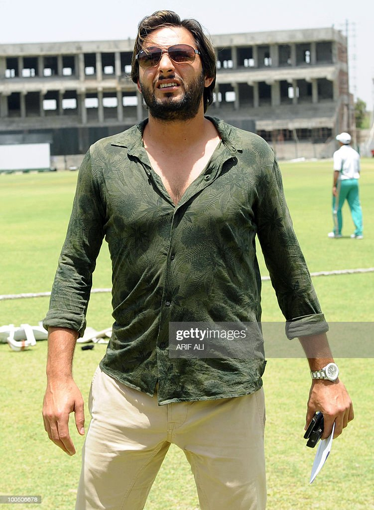 Pakistani cricket captain Shahid Afridi walks at The Gaddafi Stadium in Lahore on May 25, 2010. Dashing all-rounder Shahid Afridi was named Pakistan skipper for next month's Asia Cup and the following tour of England, uniting the team under one captain for all three formats of the game. AFP PHOTO/Arif ALI