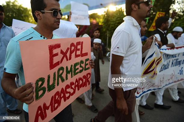 Pakistani demonstrators protest in support of Rohingya Muslims in Islamabad on June 6 2015 Myanmar refuses to recognise its 13 million Rohingya...