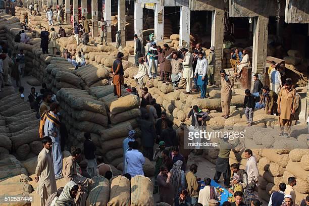 Pakistani Food Traders At Fruit And Vegatable Market