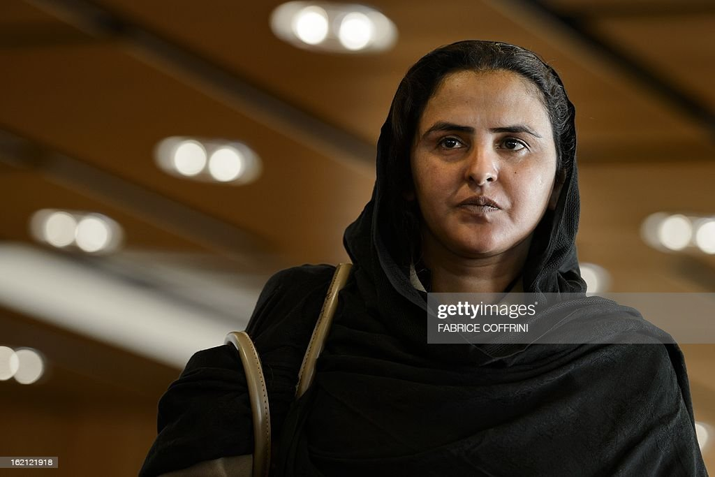 Pakistani gang rape victim Mukhtar Mai, who gained prominence for her outspoken stance on the oppression of women, stands on February 19, 2013 during the Geneva Summit for Human Right and Democracy in Geneva.