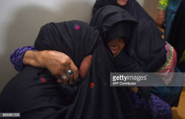 Pakistani leprosy patients mourn the death of Ruth Pfau a German nun who devoted her life to combatting leprosy in Pakistan during her funeral...