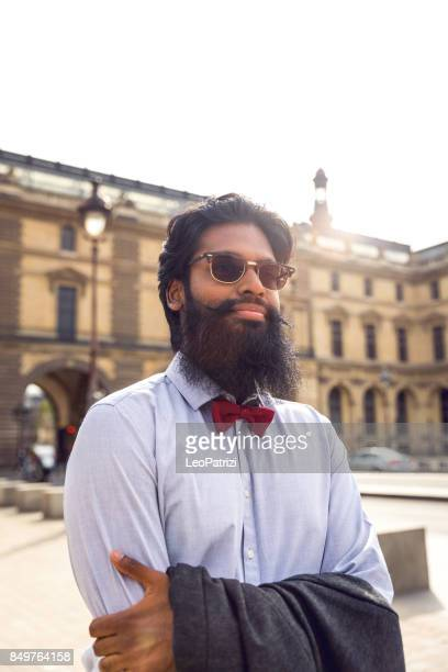 Pakistani man walking to work in the city