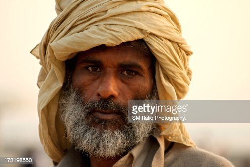 Pakistani man with moustache, turban and beard