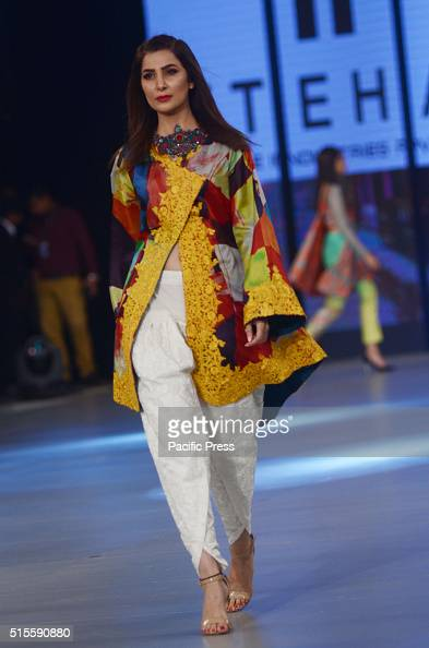 Pakistani Model Presents Creations Of The Famous Designer Pictures Getty Images