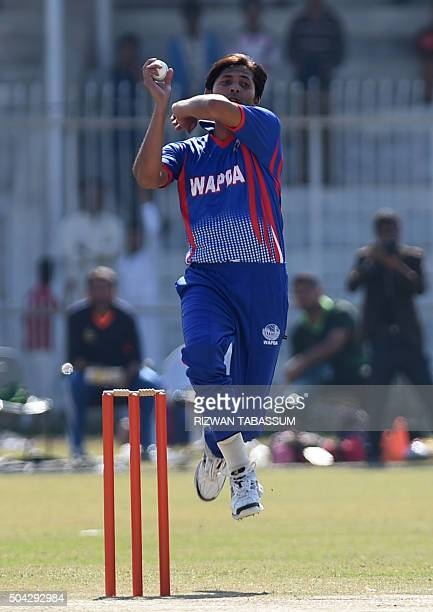 Pakistani paceman Mohammad Asif delivers a ball during a domestic oneday match in Hyderabad on January 10 2016 Butt and Mohammad Asif returned to...