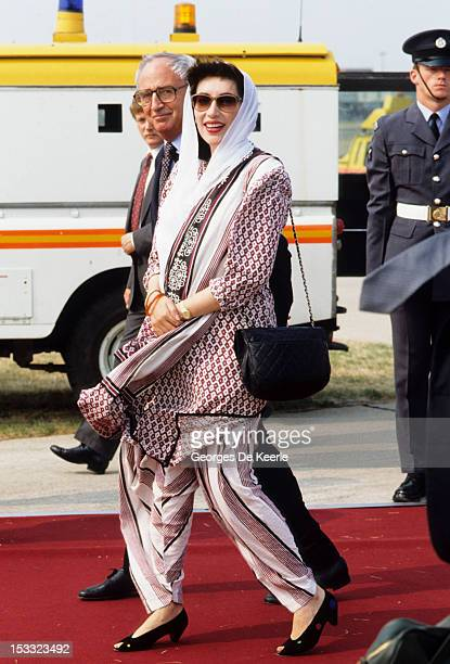 Pakistani politician Benazir Bhutto circa 1989