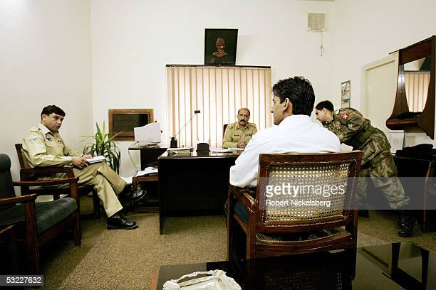 Pakistani potential army officer candidate is interview by army officers on June 28 2005 in Rawalpindi Pakistan Annual competition is fierce for the...