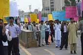 Pakistani protesters take part in a rally against the killings in Indianadministered Kashmir in Islamabad on July 23 2015 Large parts of...