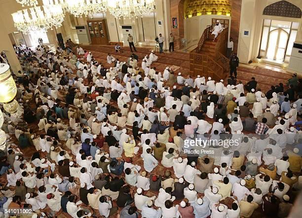 Pakistani religious leader Molana Tariq Jameel addressing during Second NamazeJuma of Holy Fasting Month of RamzanulMubarak at 7th largest Bahria...
