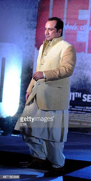 Pakistani singer Rahat Fateh Ali Khan attends a promotional event for upcoming Hindi film 'Hero' in Mumbai on September 6 2015 AFP PHOTO