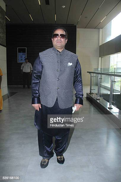 Pakistani Singer Rahat Fateh Ali Khan during the launch of his music video Dillagi at Cinepolis Andheri on June 8 2016 in Mumbai India