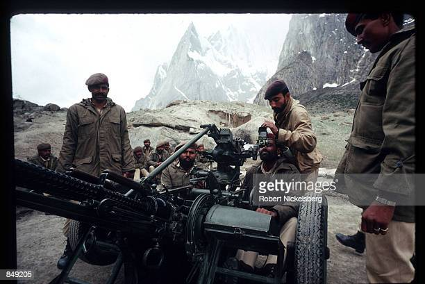 Pakistani soldiers use weapons while fighting Indian forces June 1989 in Kashmir near the PakistanIndia border India and Pakistan have fought three...