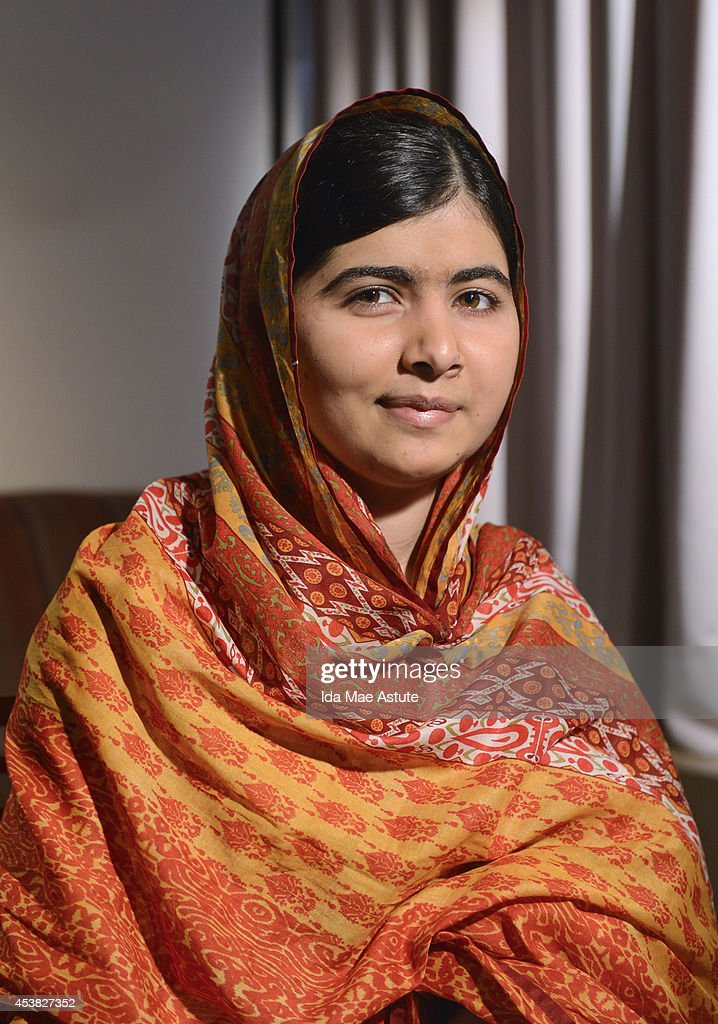 AMERICA - Pakistani teenager and education activist <a gi-track='captionPersonalityLinkClicked' href=/galleries/search?phrase=Malala+Yousafzai&family=editorial&specificpeople=5849423 ng-click='$event.stopPropagation()'>Malala Yousafzai</a> is interviewed on GOOD MORNING AMERICA, airing MONDAY, AUG. 18 (7:00-9:00am, ET) on the ABC Television Network. (Photo by Ida Mae Astute/ABC via Getty Images) MALALA