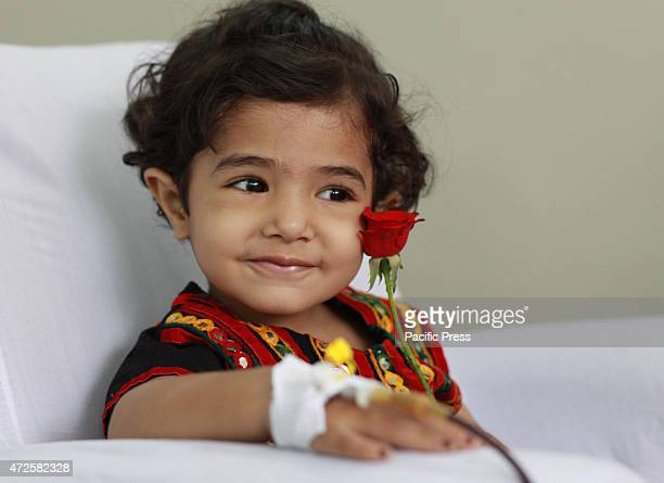Pakistani Thalassemia affected child treated by blood transfusion at Sundas Foundation Center as world observed World Thalassemia Day in Lahore...