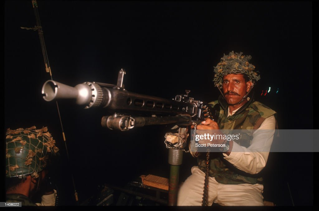 Pakistani troops patrol the city following the departure of US forces May 4 1993 in Mogadishu Somalia UN troops continue the humanitarian...