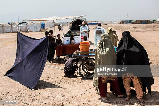 Pakistani women displaced from their homes due to the Pakistan Army's latest military offensive in the Bara area of the Khyber Tribal Region in...