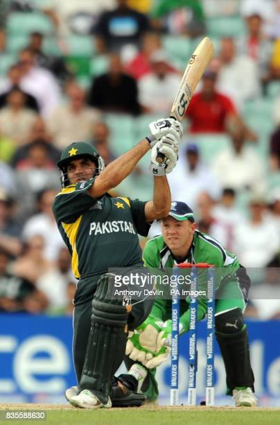 Pakistan's MisbahUlHaq bats during the ICC World Twenty20 Super Eights match at The Brit Oval London