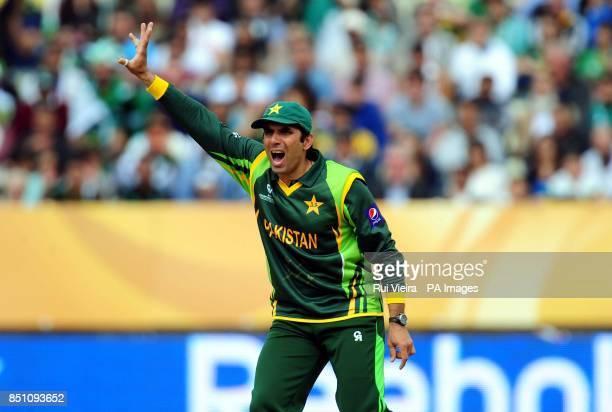 Pakistan's MisbahulHaq during the ICC Champions Trophy match at Edgbaston Birmingham