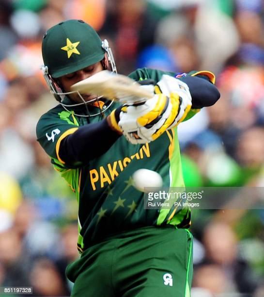 Pakistan's Mohammad Hafeez during the ICC Champions Trophy match at Edgbaston Birmingham